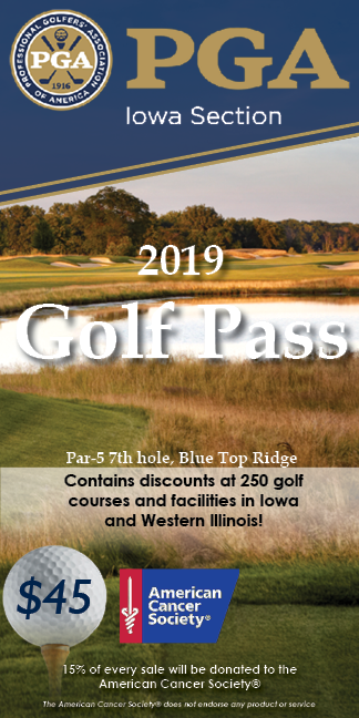 Iowa PGA Golf Pass Booklet Cover